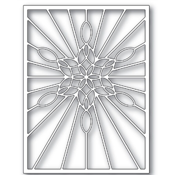 Poppy Stamps STAINED GLASS SNOWFLAKE WINDOW Craft Die 2273