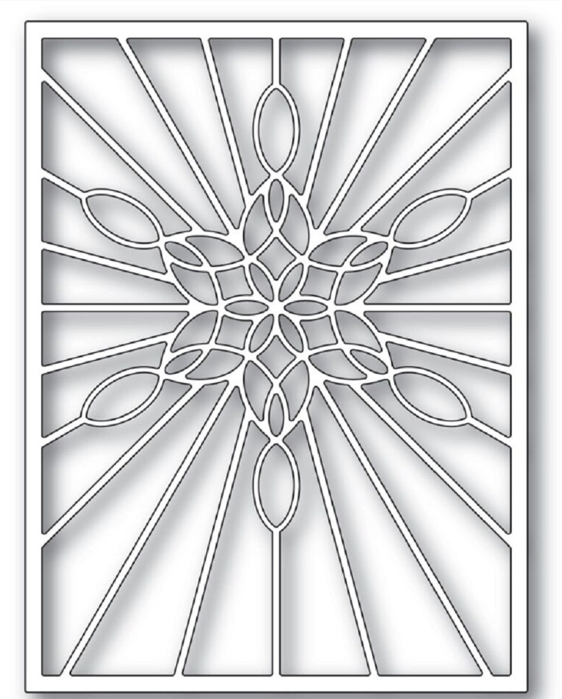 Poppy Stamps STAINED GLASS SNOWFLAKE WINDOW Craft Die 2273 zoom image