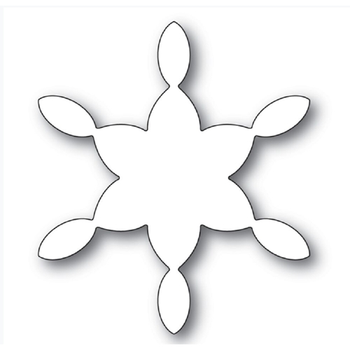 Poppy Stamps STAINED GLASS SNOWFLAKE BACKGROUND Craft Die 2276 Preview Image