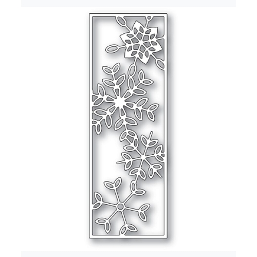 Poppy Stamps DANCING SNOWFLAKE TILE Craft Die 2277 Preview Image