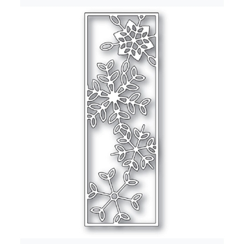 Poppy Stamps DANCING SNOWFLAKE TILE Craft Die 2277