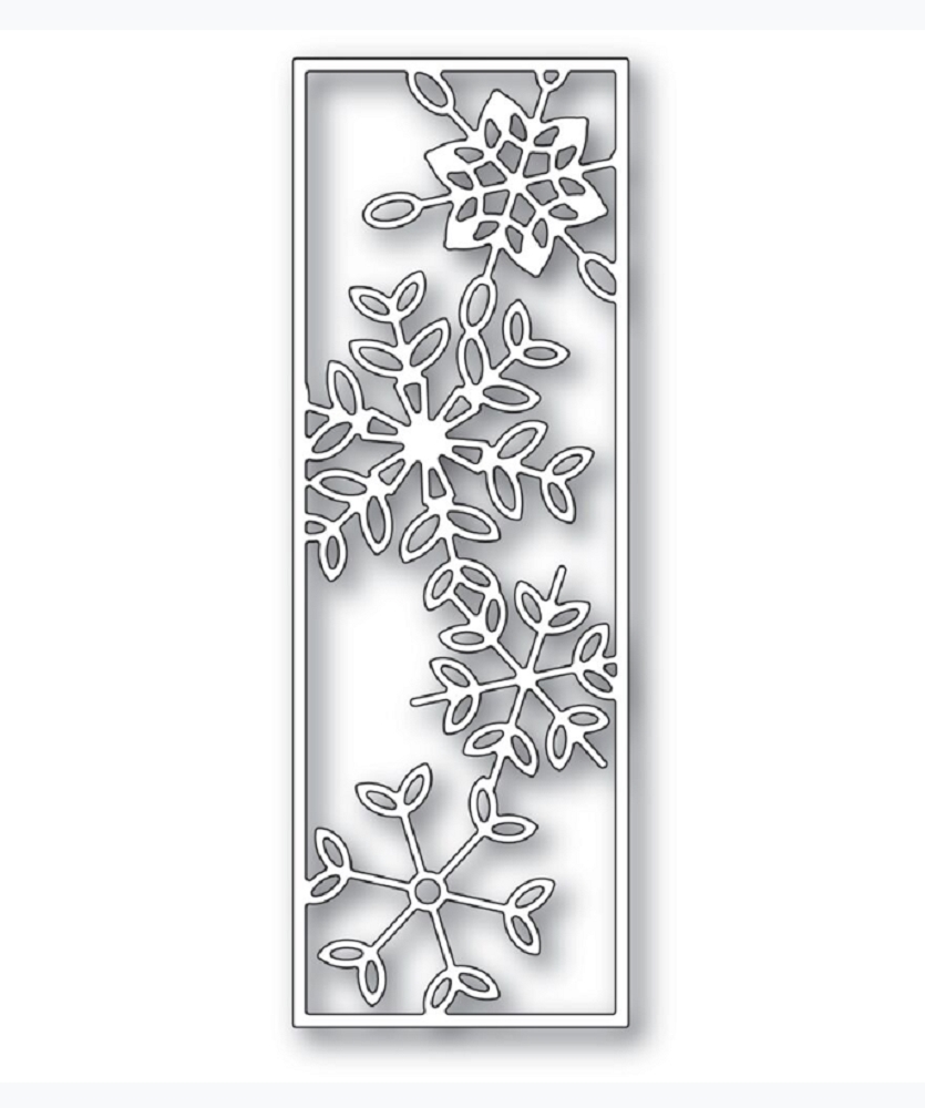 Poppy Stamps DANCING SNOWFLAKE TILE Craft Die 2277 zoom image