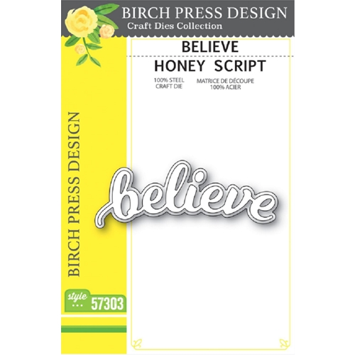 Birch Press Design BELIEVE HONEY SCRIPT Craft Dies 57303 Preview Image