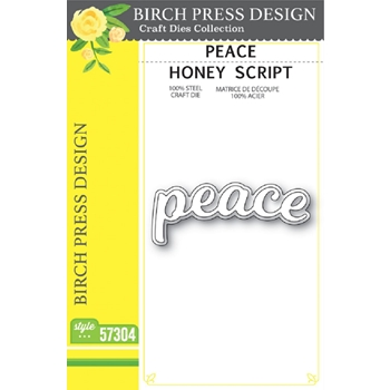 Birch Press Design PEACE HONEY SCRIPT Craft Dies 57304