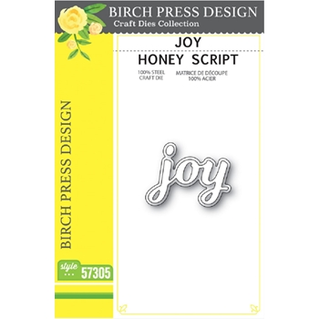 Birch Press Design JOY HONEY SCRIPT Craft Dies 57305
