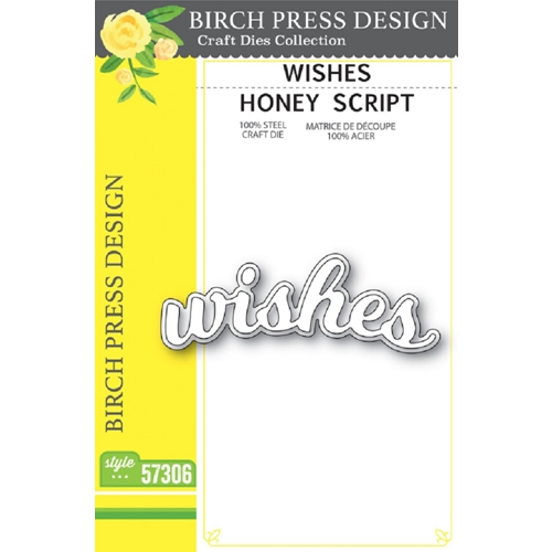 Birch Press Design WISHES HONEY SCRIPT Craft Dies 57306 Preview Image