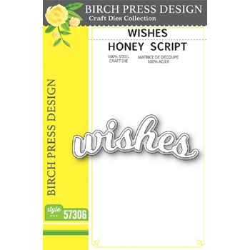 Birch Press Design WISHES HONEY SCRIPT Craft Dies 57306