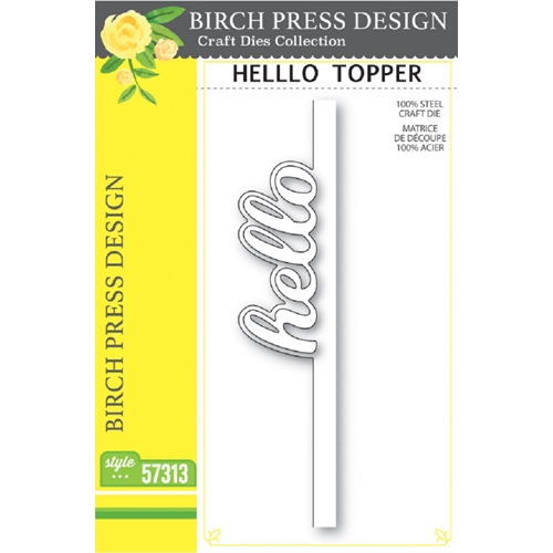 Birch Press Design HELLO TOPPER Craft Dies 57313 Preview Image