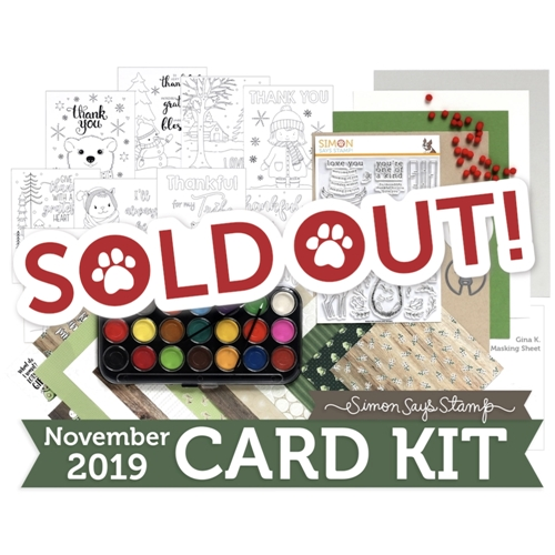 Simon Says Stamp Card Kit of The Month NOVEMBER 2019 WOODLAND WHIMSY ck1119 Preview Image
