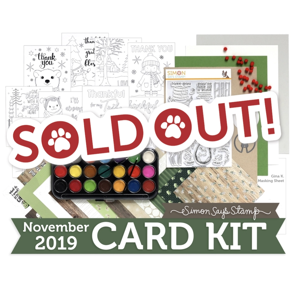 Simon Says Stamp Card Kit of The Month NOVEMBER 2019 WOODLAND WHIMSY ck1119 zoom image
