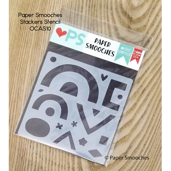 Paper Smooches STACKERS Artist Stencil OCAS10