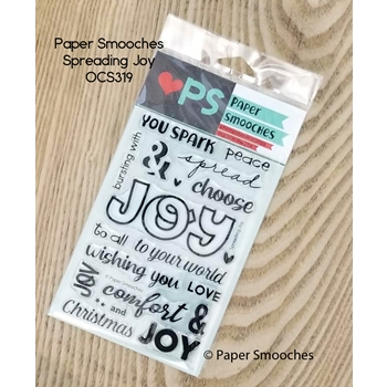 Paper Smooches SPREADING JOY Clear Stamps OCS319