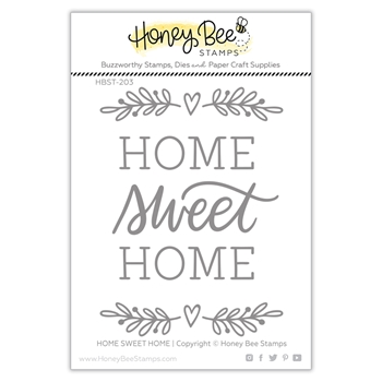Honey Bee HOME SWEET HOME Clear Stamp Set hbst-203*