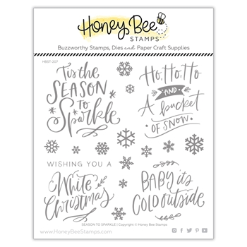 Honey Bee SEASON TO SPARKLE Clear Stamp Set hbst-207*