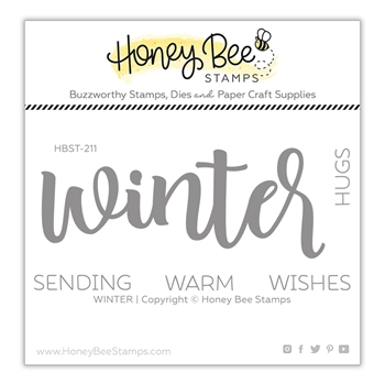 Honey Bee WINTER Clear Stamp Set hbst-211*