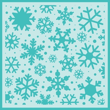 RESERVE Honey Bee SNOWFALL BACKGROUND Stencil hbsl-026