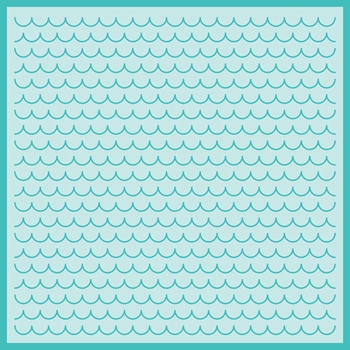RESERVE Honey Bee SCALLOPED SHINGLES BACKGROUND Stencil hbsl-033