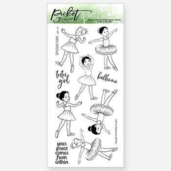 Picket Fence Studios BFF BALLERINA FRIENDS Clear Stamp Set bff107