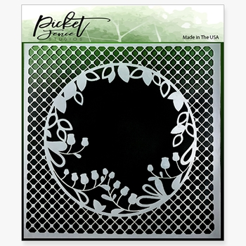 Picket Fence Studios PEEK-A-BOO FLOWER 6x6 Stencil sc124