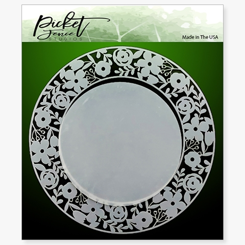 Picket Fence Studios RING OF FLOWERS 6x6 Stencil sc122 Preview Image