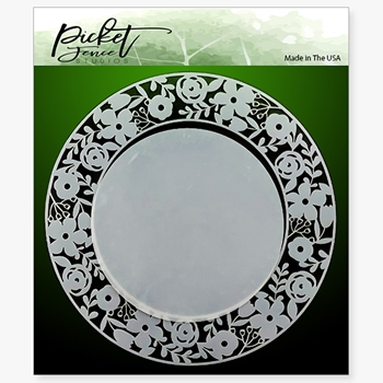 Picket Fence Studios RING OF FLOWERS 6x6 Stencil sc122