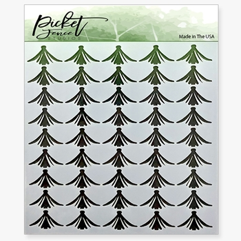 Picket Fence Studios TULIPS 6x6 Stencil sc128
