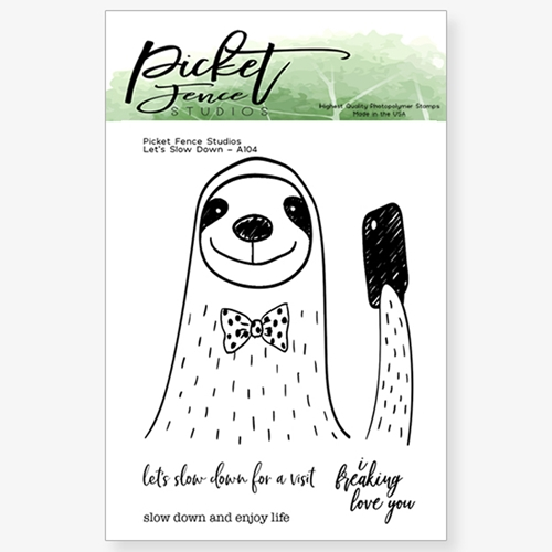 Picket Fence Studios LETS SLOW DOWN Clear Stamp Set a104 * Preview Image