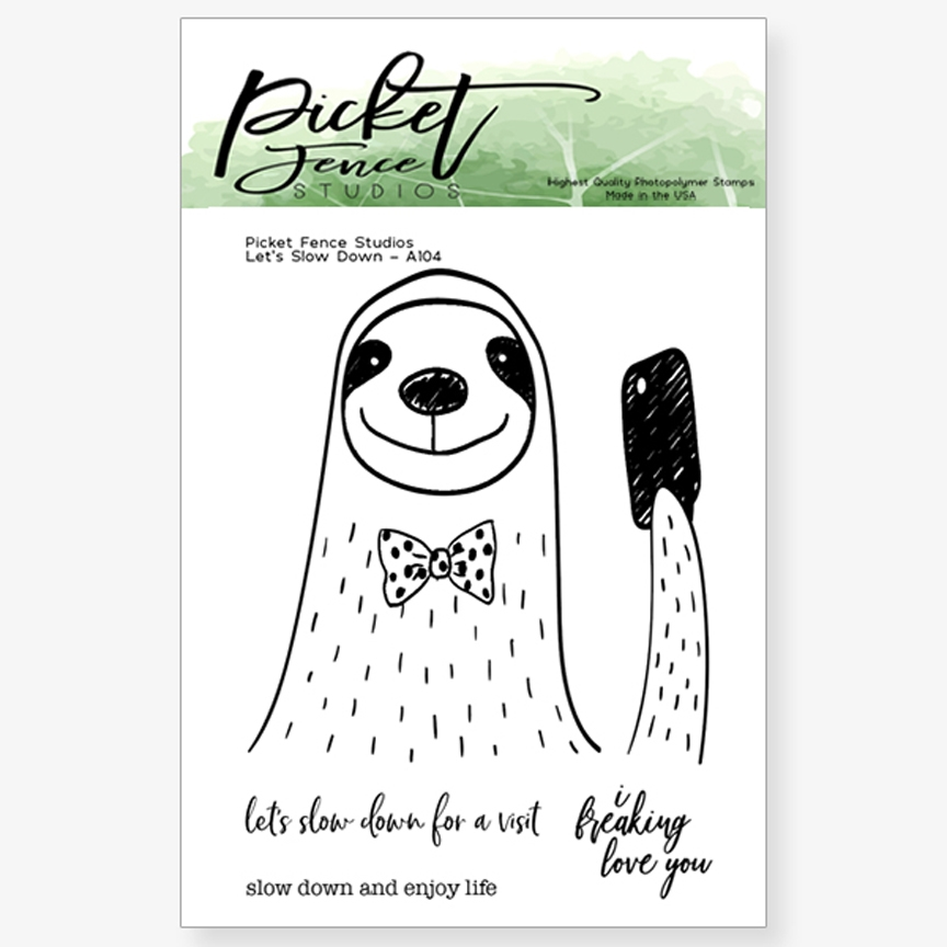 Picket Fence Studios LETS SLOW DOWN Clear Stamp Set a104 * zoom image