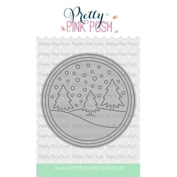 Pretty Pink Posh WINTER SCENE Die