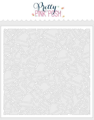 Pretty Pink Posh WHIMSICAL CHRISTMAS Stencil  Preview Image