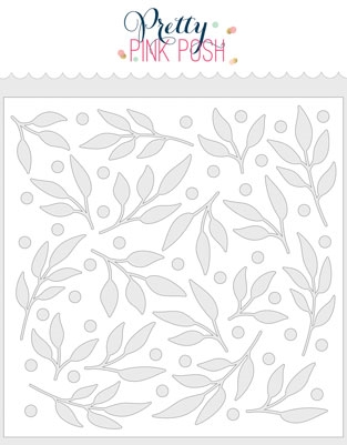 Pretty Pink Posh LEAVES AND BERRIES Stencil  zoom image