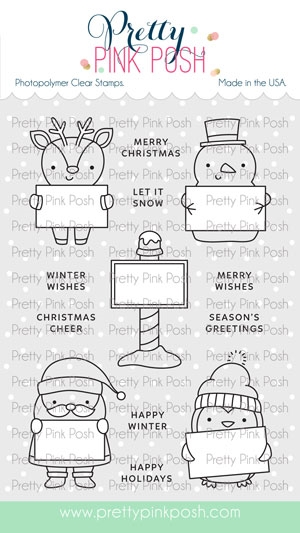 Pretty Pink Posh HOLIDAY SIGNS Clear Stamps zoom image