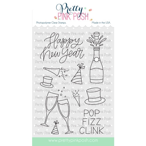 Pretty Pink Posh HAPPY NEW YEAR Clear Stamps Preview Image