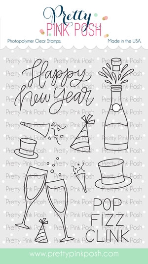 Pretty Pink Posh HAPPY NEW YEAR Clear Stamps zoom image
