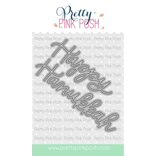 Pretty Pink Posh HAPPY HANUKKAH SCRIPT Die Preview Image