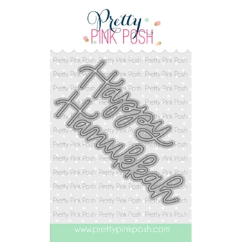 Pretty Pink Posh HAPPY HANUKKAH SCRIPT Die