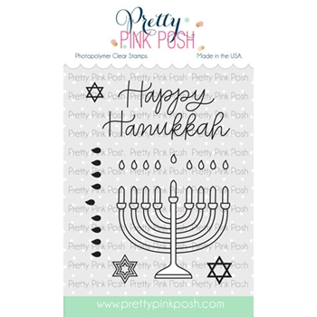 Pretty Pink Posh HAPPY HANUKKAH Clear Stamps