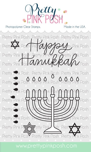 Pretty Pink Posh HAPPY HANUKKAH Clear Stamps zoom image