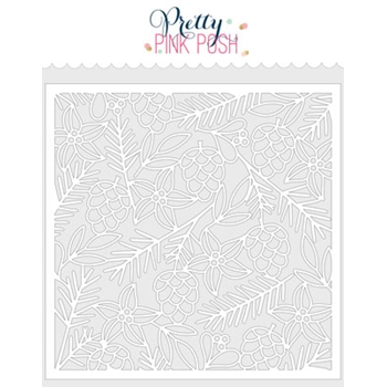 Pretty Pink Posh CHRISTMAS BACKGROUND Stencil