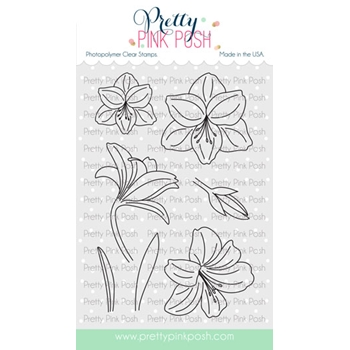 Pretty Pink Posh AMARYLLIS Clear Stamps