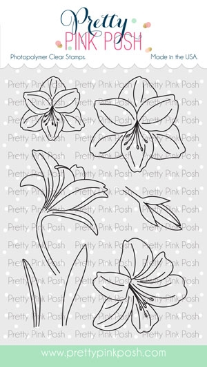 Pretty Pink Posh AMARYLLIS Clear Stamps zoom image