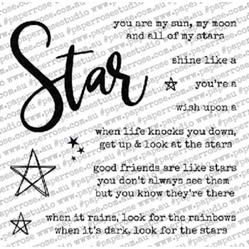 Paper Rose STAR WORDS Clear Stamps 18231