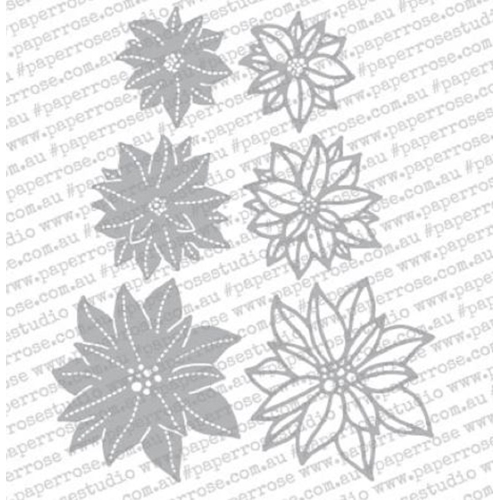 Paper Rose POINSETTIA FLOWERS Craft Dies 18351 Preview Image