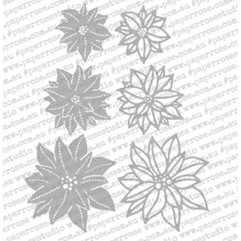 Paper Rose POINSETTIA FLOWERS Craft Dies 18351