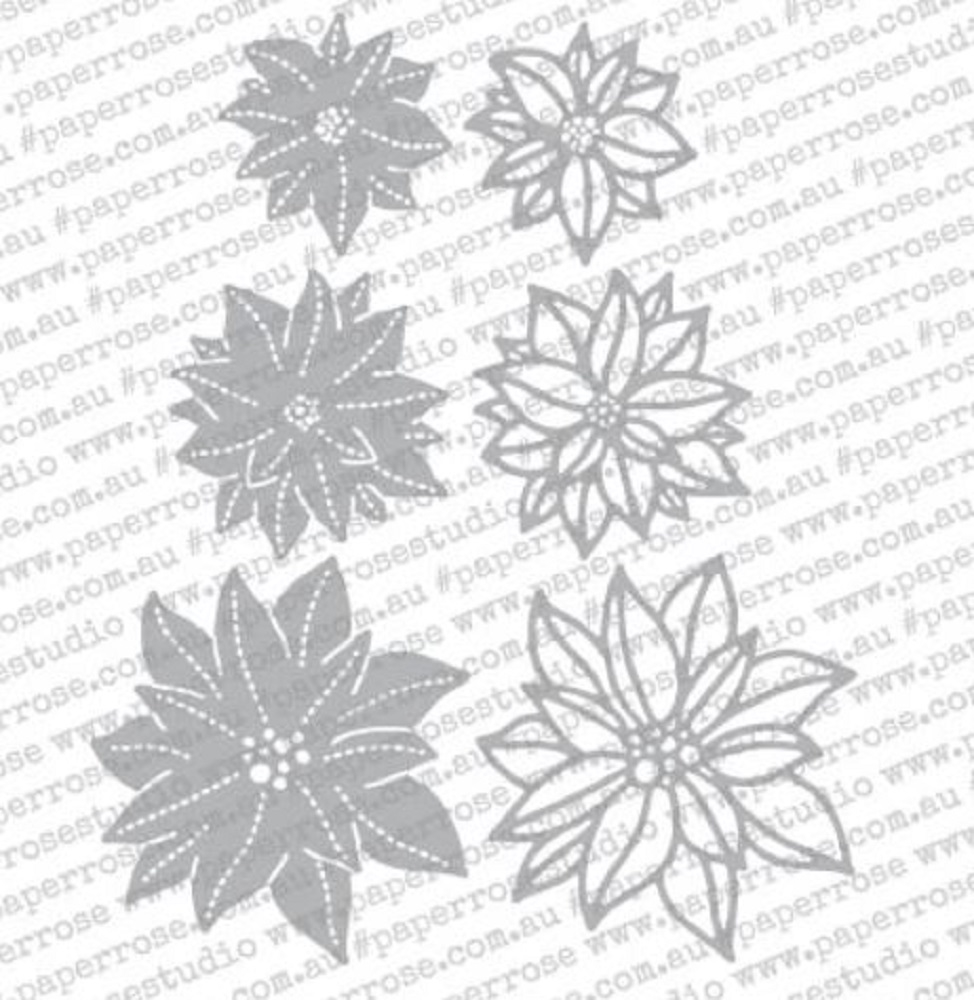 Paper Rose POINSETTIA FLOWERS Craft Dies 18351 zoom image