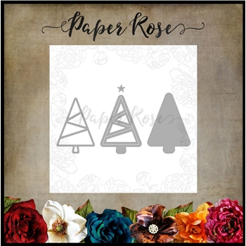 Paper Rose CHRISTMAS TREE TRIO Craft Die 16991