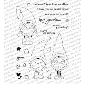 Paper Rose GNOMIES Clear Stamps 18372