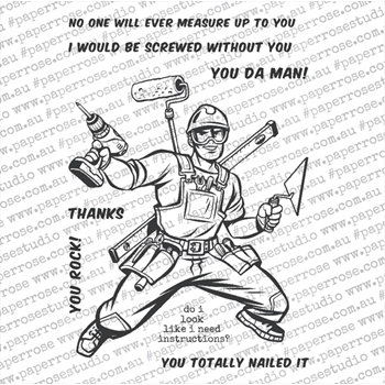 Paper Rose SUPER TRADIE Clear Stamps 18381