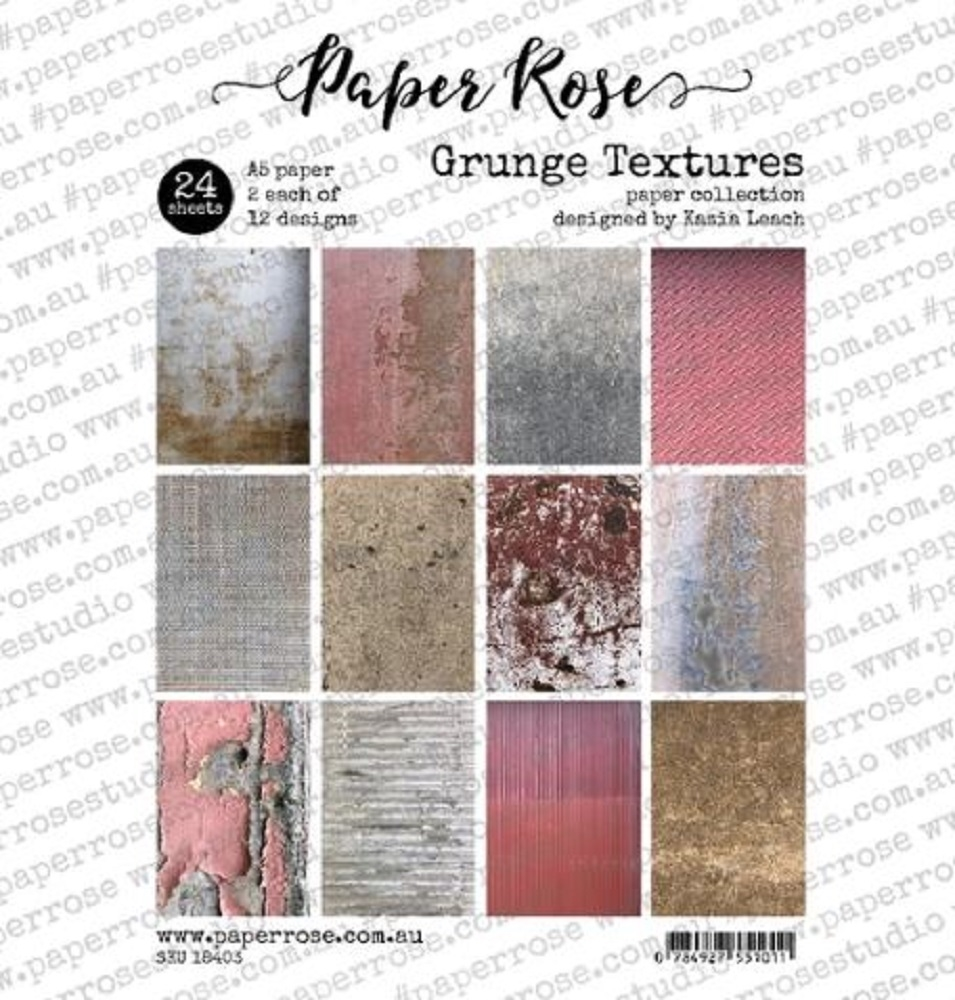 Paper Rose GRUNGE TEXTURES Paper Pack 18403 zoom image