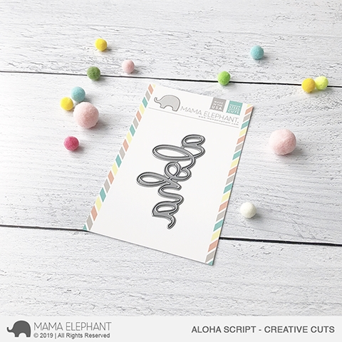Mama Elephant ALOHA SCRIPT Creative Cuts Steel Dies Preview Image